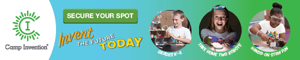 Camp Invention Activity Banner 600×120 Day Camp Cat