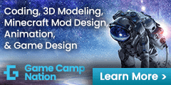 Game Camp Nation 240×120 Game Design ad